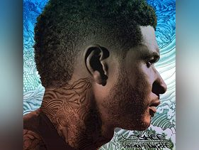 Usher Sports Neck Tattoo On Looking 4 Myself Cover