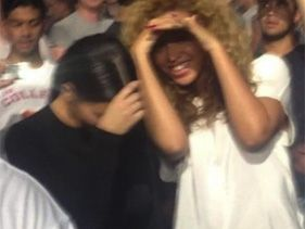 Kim Kardashian, Beyonce Bond At Watch The Throne Concert