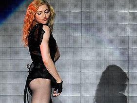 Madonna Moons Audience At Rome Concert