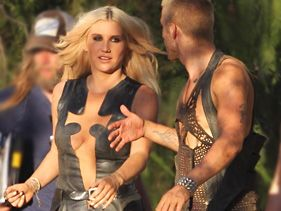 Ke$ha Dons Leather -- And Not Much Else -- On 'Die Young' Set