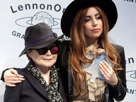 Lady Gaga Receives Peace Award From Yoko Ono