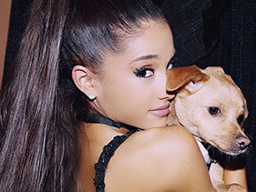 Watch Ariana Grande's Dog Try To Sing Like Her