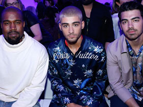 Kanye West, Zayn Malik, And Joe Jonas Form Fashion's New Holy Trinity