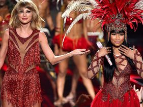 Holy S–t, Nicki Minaj And Taylor Swift Just Buried Their 'Bad Blood' At The VMAs